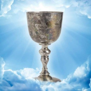 holy grail silver cup on clouds lighted equity partner ultimate lawyers goal