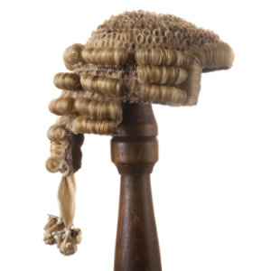 silks barrister judge wig finding a seat at the bar
