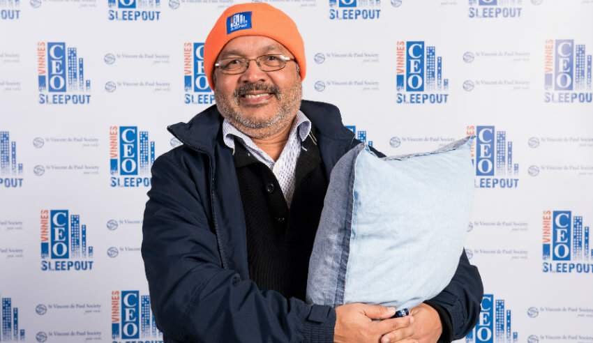 Vinnies CEO Sleepout, Clarence Kunnel