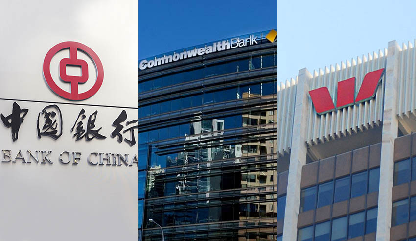 Bank of China, CommBank and Westpac