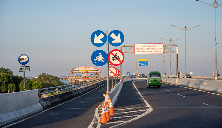 Indonesian toll road