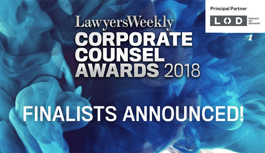 Lawyer's Weekly Corporate Counsel Awards 2018