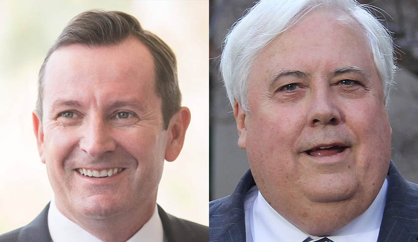 Mark McGowan and Clive Palmer