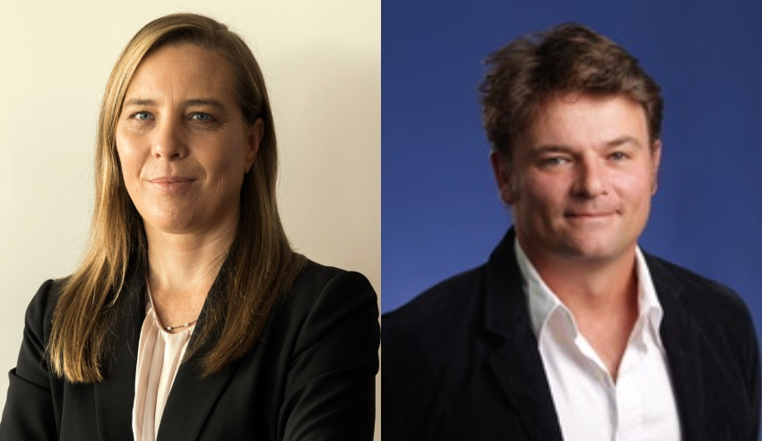 Michelle Meares and Professor Cameron Stewart
