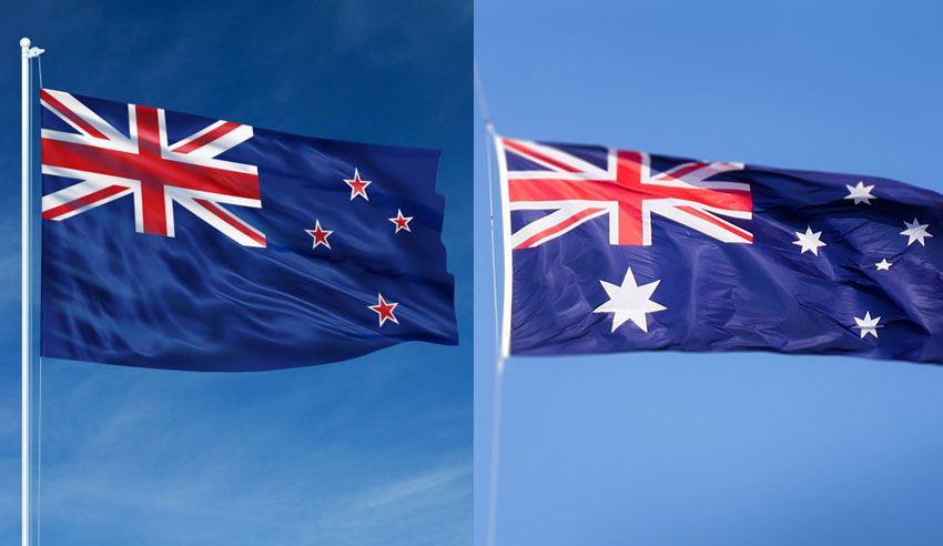 New Zealand and Australian flag