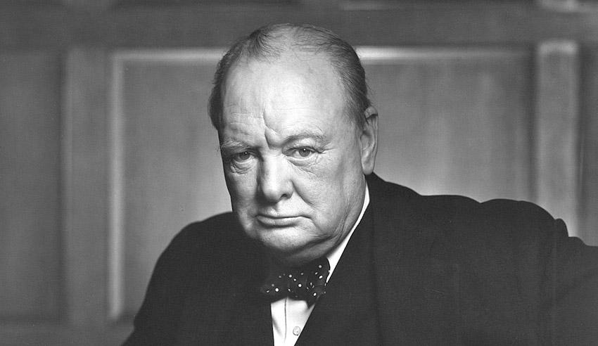 former British prime minister Winston Churchill