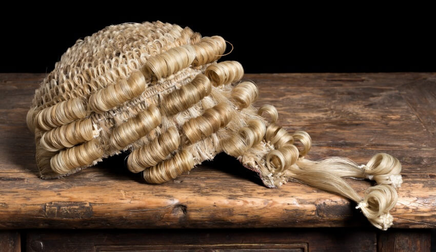 New judge, barrister's wig