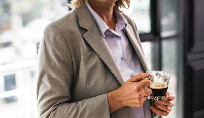 Professional woman with a cup of coffee
