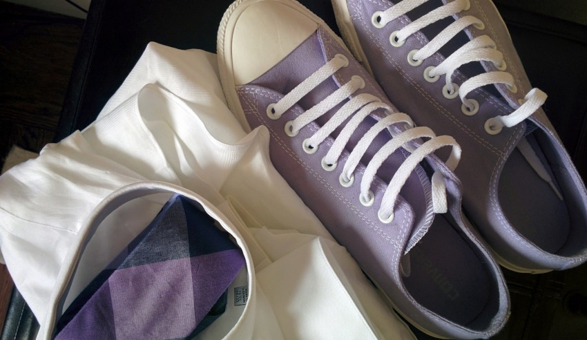 purple sneakers casual attire dress for your day policy flexible agile workplace mccabe curwood