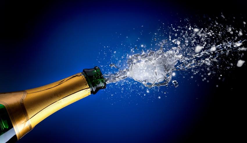 Celebration, open a bottle of wine