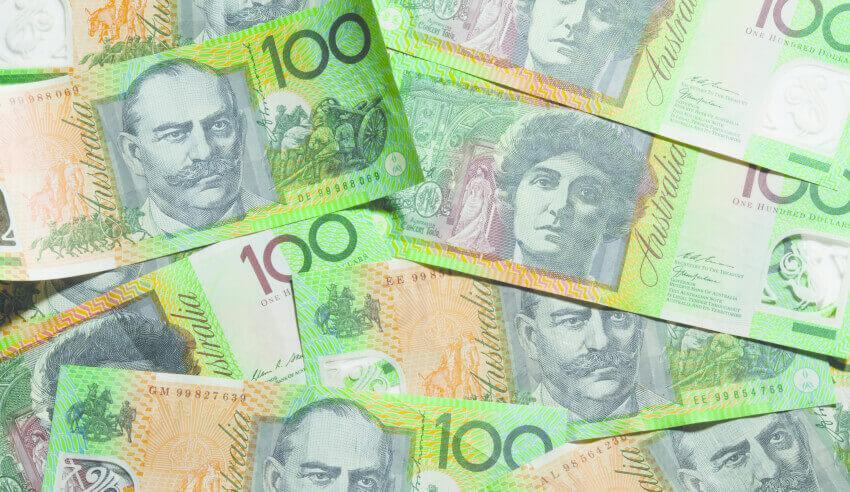 Sell, money, Australian dollar