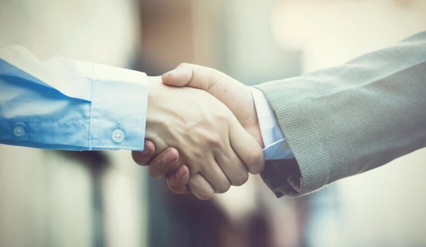 Handshake, hire, Dr Andrew Lu