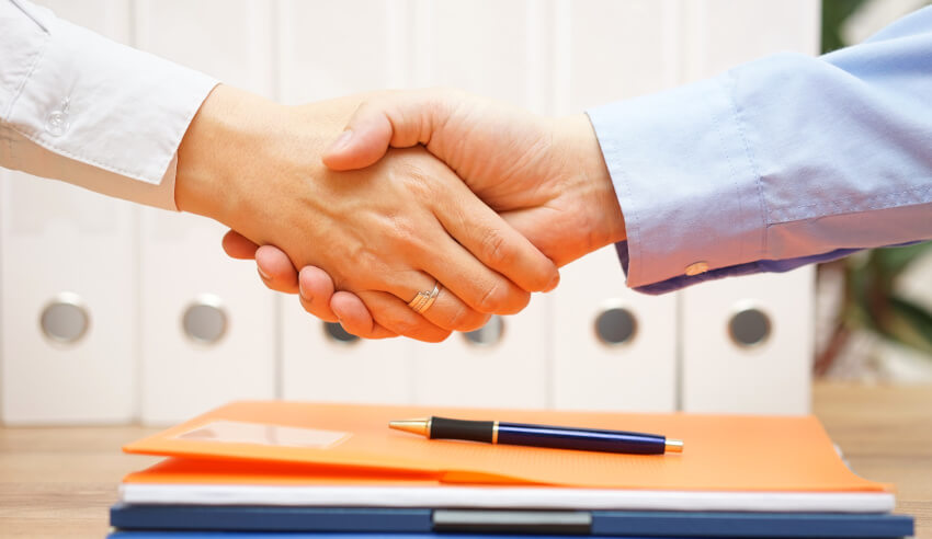 Handshake, business deal, appointment