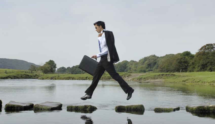 Man, lawyer, leap of faith