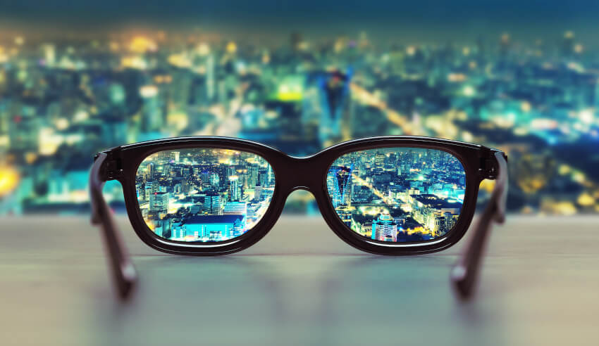 Perspective, eye glasses