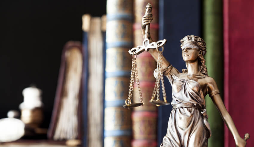 Legal proceedings, scales of justice