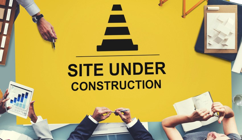 Corporate counsel, site under construction