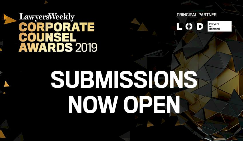 Corporate Counsel Awards Submissions now open