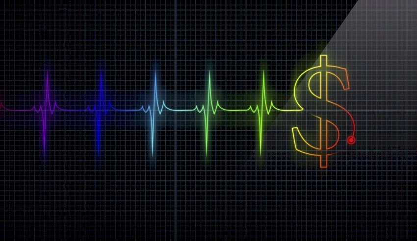 Dollar sign heart rate