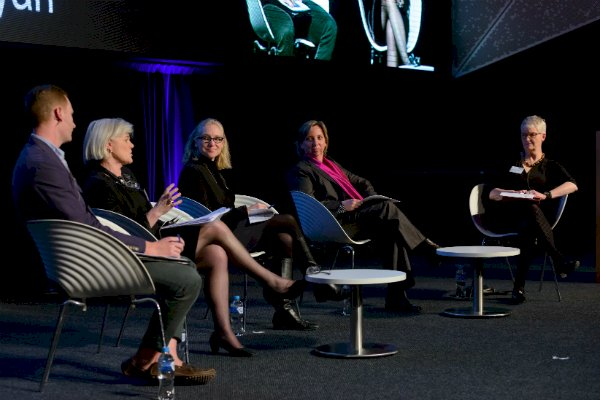Dominic Woolrych, Claire Wivell Plater, Dr Pip Ryan, Beth Paterson, professor Lesley Hitchens